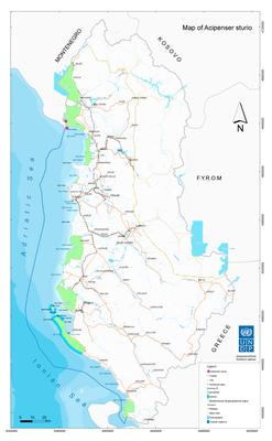map - Acipenser sturio