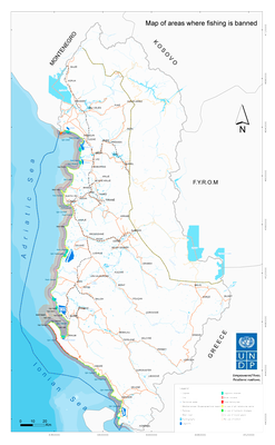 Map-areas where fishing is banned