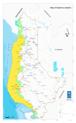 Map- Delphinus delphis