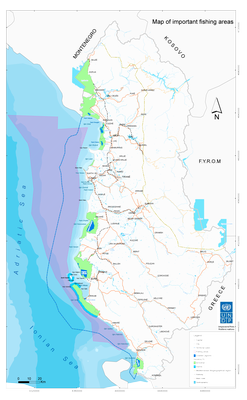 Map - Fishing areas