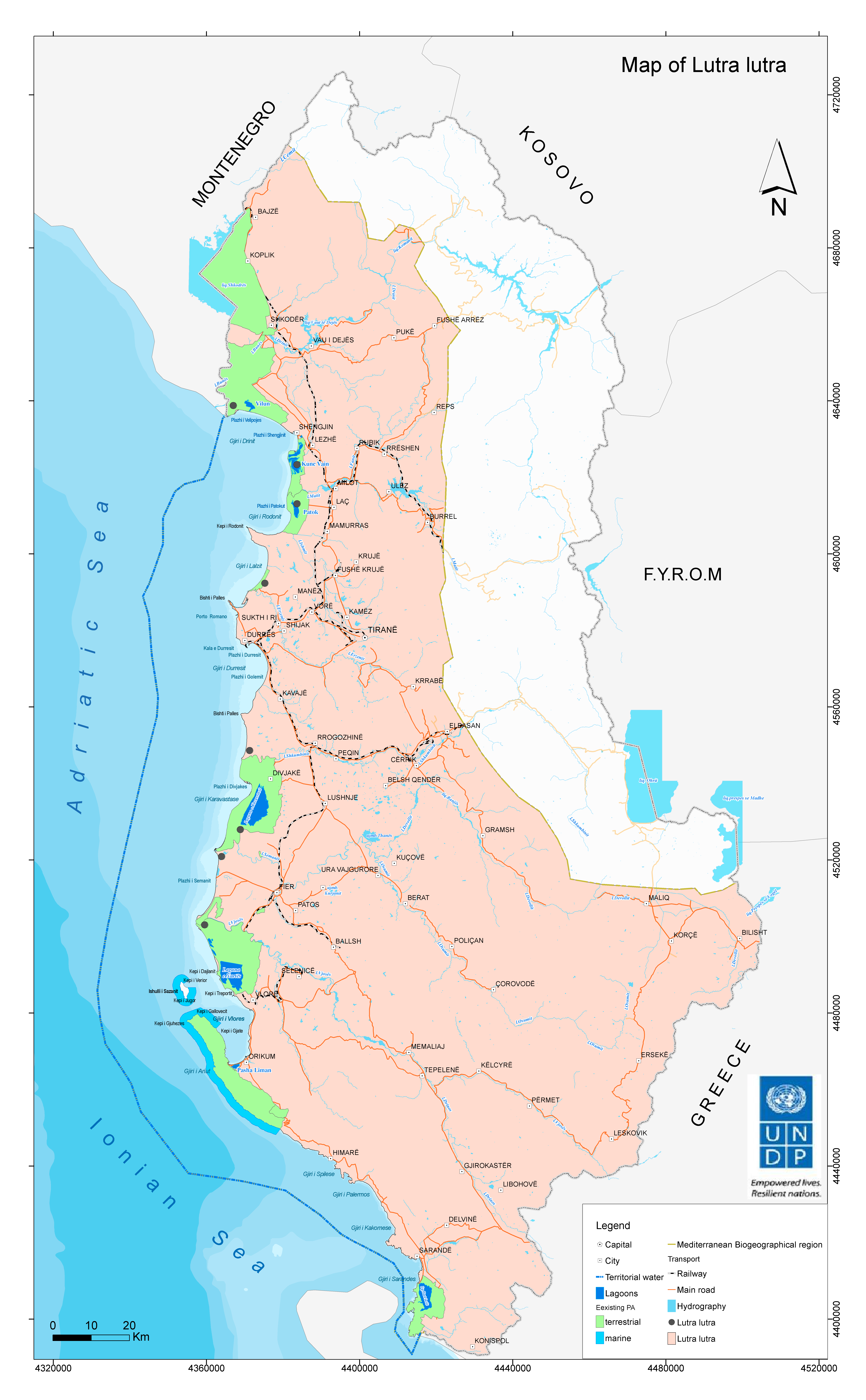 Map - Lutra lutra