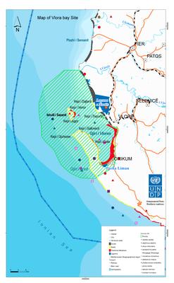Map - Vlora bay Site